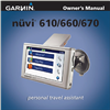 nuvi 660 auto gps quick Reference Guide