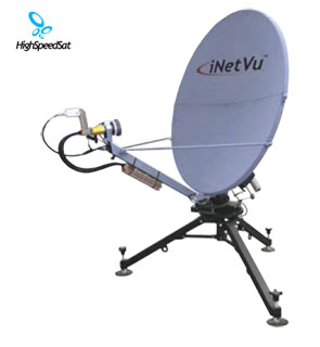 flyaway mobile satellite internet dish