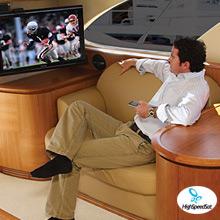 Watch TV on boat